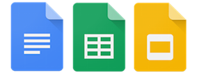 Google Docs, Sheets, and Slides Icons