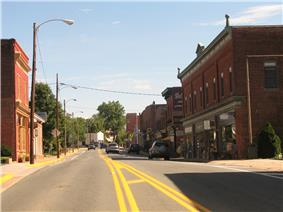 Looking down S. Main St