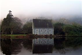 Church at Gougane Barra - built on island near monastery/well site at end of 19th century.
