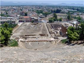 View of Argos, seen from the ancient theatre