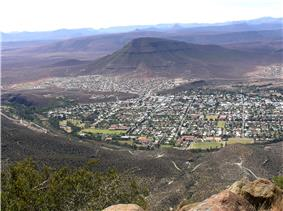View from Valley of Desolation to Graaff-Reinet