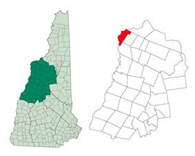 Location in Grafton County, New Hampshire