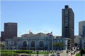 Graham Auditorium & Fox Plaza.