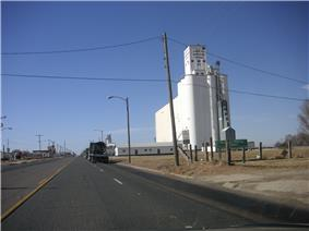 Grain storage in Farwell, Texas