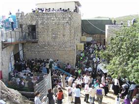 The tomb of Shimon bar Yochai in Meron
