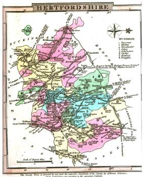 An old map in colour