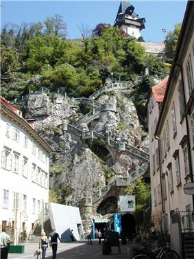One view of the Graz Schlossberg (Castle Hill)