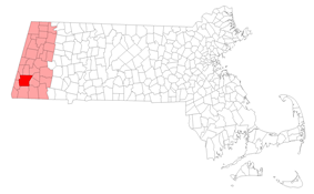 Location of Great Barrington in Berkshire County, Massachusetts