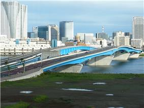 Great Harumi Bridge in Kōtō