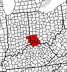 Map of Greater Cincinnati