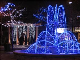 Alexander the Great park at Christmas in Greektown