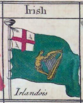 An 18th-century drawing of the green flag.