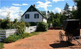 Exterior view of the Green Gables farmhouse