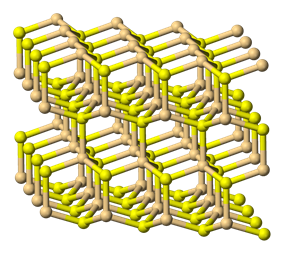 3D model of the structure of greenockite