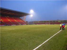 View from the north eastern corner of the ground after Crewe Alexandra's defeat by Reading, 4 February 2006 (photo by Andrew Smith)