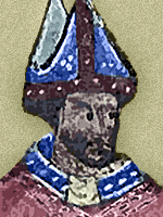 An image of Grosseteste from a late-14th-c. illuminated manuscript.Grosseteste, '''' &c. ([http://www.bl.uk/catalogues/illuminatedmanuscripts/ILLUMIN.ASP?Size=mid&IllID=39914 Royal 6 E p. 116]).