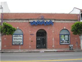 A comedy club on a street in Los Angeles, California.