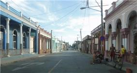 Main street in front of post office