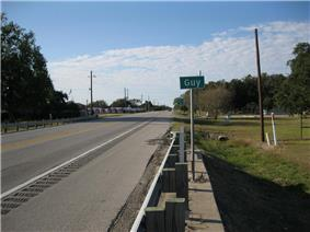 View is northwest on Highway 36 toward the intersection with FM 1994.