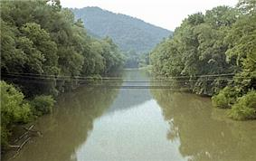 The Guyandotte River at West Logan