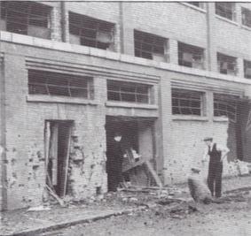 Bomb damage of Gwladys Street stand