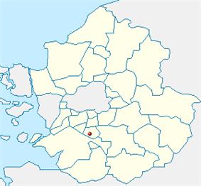 Map of Gyeonggi highlighting Gwonseon-gu.