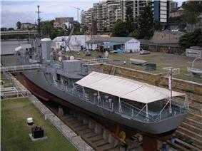 The former HMAS Diamantina (K377) in 2008