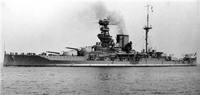 HMS Valiant between 1930 and 1937