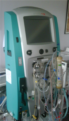 Photograph of a hemofiltration machine