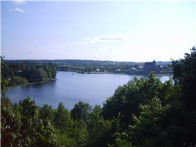 View of Lake Vanajavesi, next to Hämeenlinna. The castle is visible to the right.