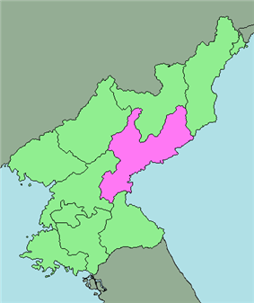 Location of South Hamgyong Province