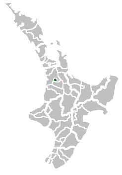 Location of the Hamilton Territorial Authority