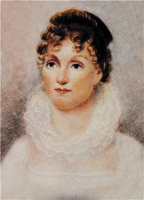 Portrait painting of Hannah Van Buren