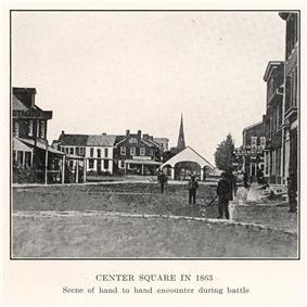 Center Square in 1863