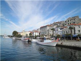 Šibenik harbor and town center
