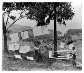 1894 kite demonstration at Stanwell Park, Australia