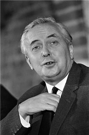 A photograph of Harold Wilson