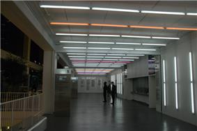 View of a building interior in white light