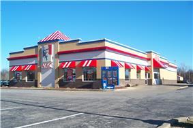 A KFC location in Harrisburg, Illinois