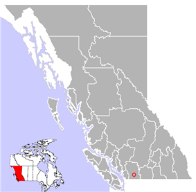 Location of Harrison Hot Springs in British Columbia