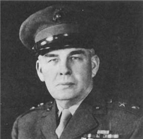 A black and white image of Harry Schmidt, a white male in his Marine Corps dress uniform