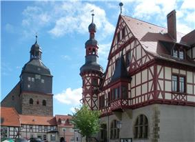 Town hall and St Mary's Church