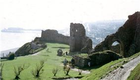 Hastings Castle, once the administrative centre of the Rape