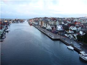 View of Smedasundet and parts of central Haugesund