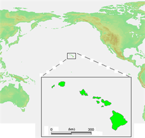Location of Hawaii Territory