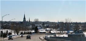 Skyline of Hawkesbury as seen from the Long-Sault Bridge.