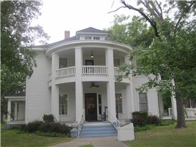 The historic Hawthorn-Clabaugh-Patterson House is now the location of the Carthage Chamber of Commerce.