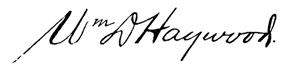 Wm. D Haywood