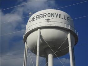 Water tower in Hebbronville