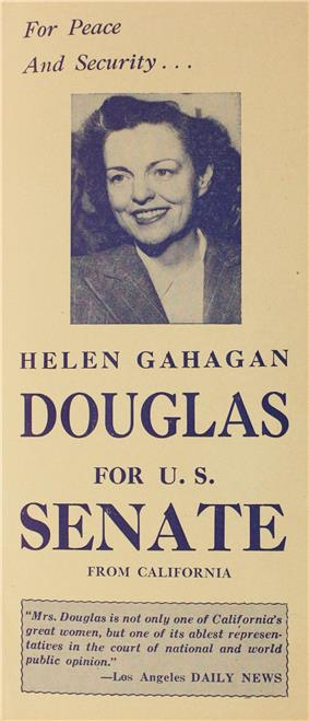 A political flyer, showing a smiling woman.